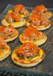 Blinis saumon fumé & œufs de saumon