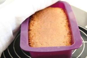 1 cake pralin sortie du four