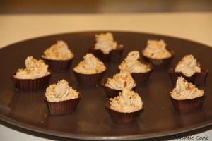 Coques en chocolat mousse pralinée