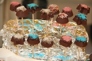 Sucettes chocolat praliné