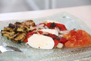 entree poivron courgette tomates mozza