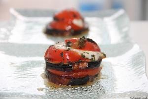 Gratin d'aubregines tomates a la mozzarella